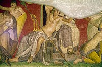 Villa Of The Mysteries 12, C.60_50BC, Roman Art, FRESCO, Villa of the Mysteries, Pompeii, Italy