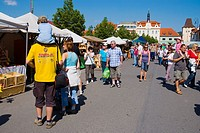 Jarni Hrnciske a Remeslne trhy the annual crafts and arts market in Beroun Czech Republic Europe