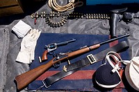 Authentic gear of the US Cavalry during the late 1800´s during America´s Indian Wars
