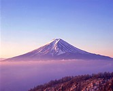 Snowcapped Mt. Fuji, Japan