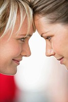 Close_up of two women smiling