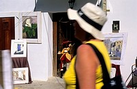 Typical shop of Dalt de la Vila  Ibiza  Balearic islands  Spain