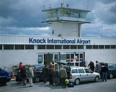 Knock Airport, Co Mayo, Ireland, People outside of an airport