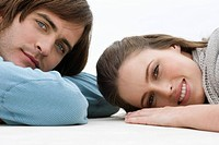 Couple lying on the floor