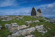 Teampull Bheanáin, Inishmore, Aran Islands, Co Galway, Ireland, Original monastic settlement founded by Benan in the 11th Century
