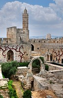 Tower of David Museum, Jerusalem, Israel, Ancient stone archway and tower
