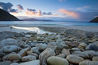 Keem Strand, Achill Island, Co Mayo, Ireland, Scenic view of Keem Strand at early morning