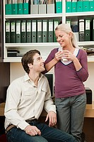 Young couple in home office