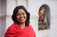 Portrait of a smiling woman, Kathmandu, Nepal