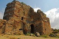 Ruins of Anadolu Kavagi Kalesi, a medieval castle built by Byzantines, later restaured by the Genovese and finally by the Ottomans. It is considered t...