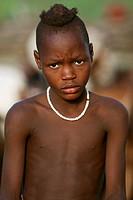 Himba boy, Kaokoland, Namibia, Africa