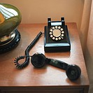 Rotary Phone with Receiver Off the Hook