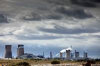 Smoke stacks, Teesside, England