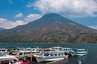 Volcan San Pedro, Santiago Atitlan, Lake Atitlan, Guatemala, Central America