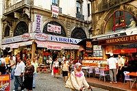 Busy street in Eminonû.  Istanbul, Turkey