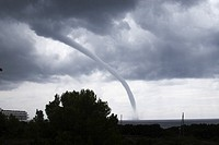 Waterspout, Formentera, Balearic Islands, Spain