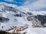 Meribel_Mottaret, 1750m, ski area, Meribel, Three Valleys Les Trois Vallees, Savoie, French Alps, France, Europe