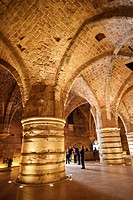 Interior of the Crusader Castle, Akko Acre, Israel, Middle East