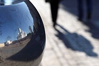 Reflection of Lutheran Cathedral, Senate Square, Helsinki, Finland, Scandinavia, Europe