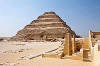 Stufenpyramide Sakkara des Pharao Djoser, Sakkara, Aegypten, Saqqara Step Pyramid of Pharaoh Djoser, Saqqara, Egypt