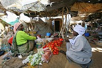 food market in N´djamena, Chad, Africa