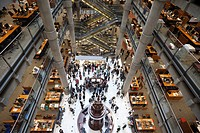 England, London, City of London, Interior of Lloyds Insurance Building