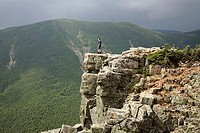 The summit of Bondcliff in the Pemigewasset Wilderness during the summer months  Located in the White Mountains, New Hampshire USA