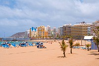 Spain _ Canary Islands _ Gran Canaria _ Las Palmas de Gran Canaria _ Playa de las Canteras