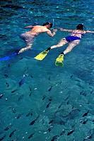 Snorkeling in Xcaret Park in Riviera Maya
