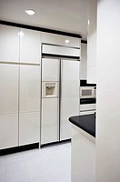 Modern Black and White Kitchen Detail