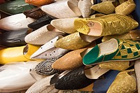 Moroccan slippers, Rabat, Morocco, Africa