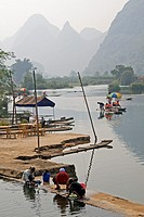 Local Life on the Li Rive,r Yangshuo, Guilin, Guangxi, China