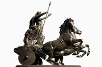 Cut out, Statue of Queen Boadicea, Boudicca on Westminster Bridge, London, UK