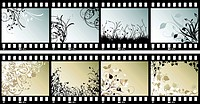 Floral film strips