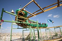 School children at an amusement park in Amman  Many Iraqi refugees have settled in Amman, Jordan because of the ongoing violence in their own country ...