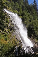 Stuibenfall, Tryols highest waterfall, near Umhausen, Otztal valley, Tyrol, Austria