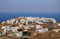 Kastro village under late afternoon light, Sifnos island, Greece