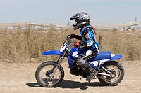 Girl on a motorcross bike