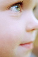 Close Up Profile of Young Child
