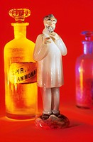 Physician and Medicine Bottles