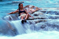 Woman Bathing in Havasu creek Grand canyon