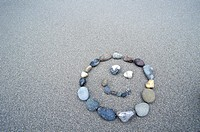 Smiley Face Drawn With Rocks
