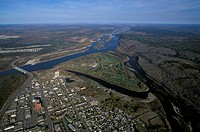 Aerial view of Fort McMurray, Alberta