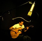 Recording A Guitar Player In The Studio