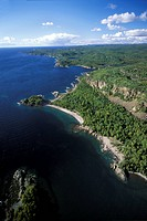 Aerial of Pukaskwa National Park, Ontario, Canada