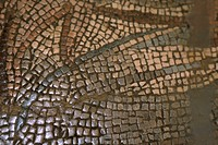 Close_up of a mosaic pattern on a wall