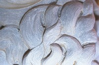 Close_up of a carved stone pattern