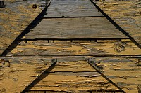 High angle view of a wooden pier