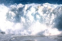 Large wave crashing in the sea