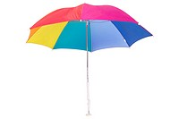 Multi_colored umbrella